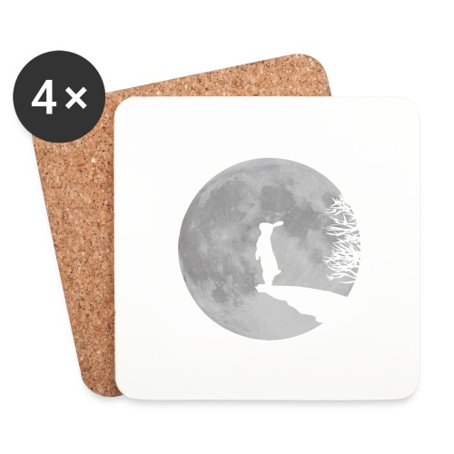 rabbit_wolf-png - Coasters (set of 4)