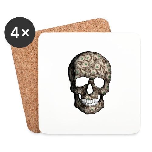 Skull Money Black - Posavasos (juego de 4)