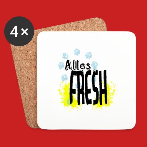 Alles Fresh / Frisch Sommer Eis - Untersetzer (4er-Set)