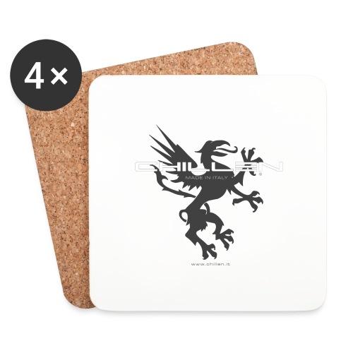 Chillen-1-dark - Coasters (set of 4)
