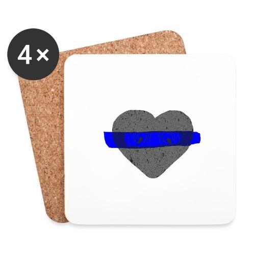 serduszko blu - Podstawki (4 sztuki w zestawie)