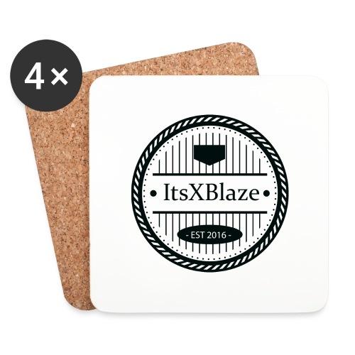ItsXBlaze Logo 3 White V-Neck Option 1 - Onderzetters (4 stuks)