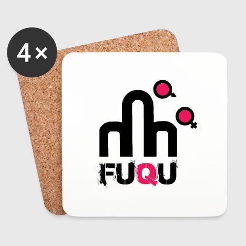 T-shirt FUQU logo colore nero - Sottobicchieri (set da 4 pezzi)
