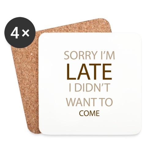 Sorry im late - Glasbrikker (sæt med 4 stk.)