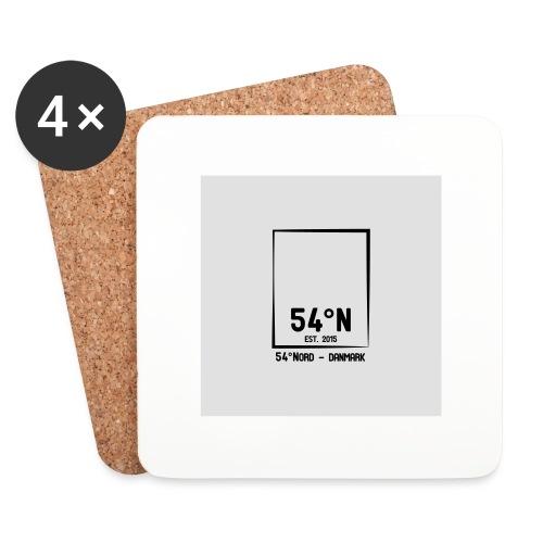 54°Nord square t-shirt edt.3 - Glasbrikker (sæt med 4 stk.)