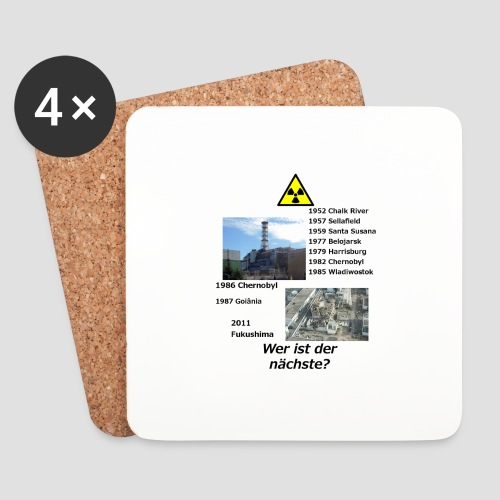 no nuclear button (German) Wer ist der Nächste? - Coasters (set of 4)