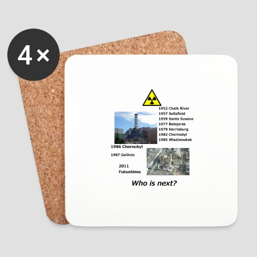 no nuclear button Who is next? - Coasters (set of 4)
