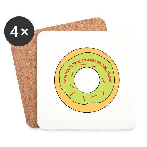 Donut Come For Me Red - Coasters (set of 4)