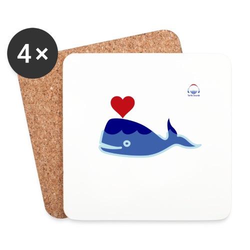 Wale of Love - Posavasos (juego de 4)