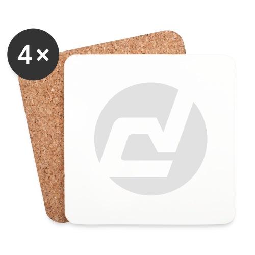 logo blanc - Dessous de verre (lot de 4)