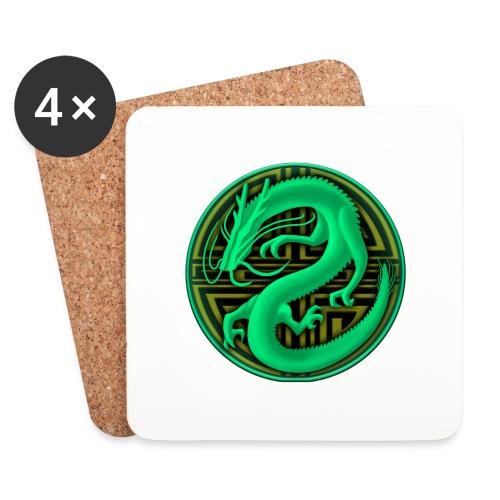 logo mic03 the gamer - Sottobicchieri (set da 4 pezzi)