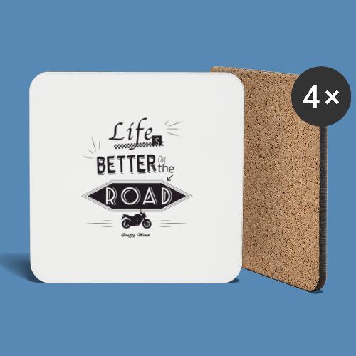 Moto - Life is better on the road - Dessous de verre (lot de 4)