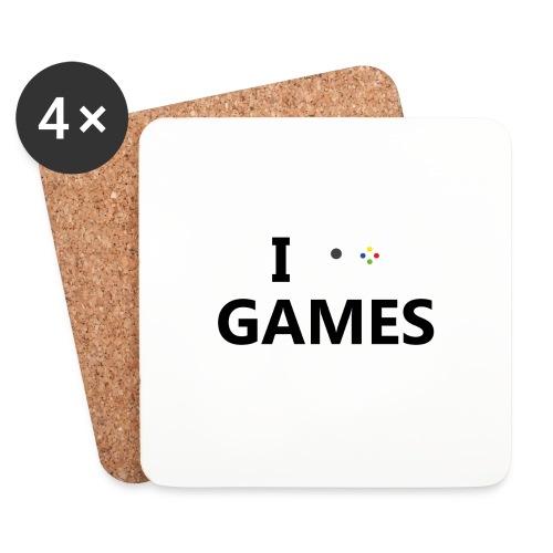 I Love Games - Posavasos (juego de 4)
