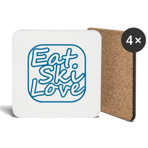 eat ski love - Onderzetters (4 stuks)