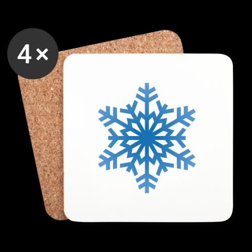 Snowflake - Glasbrikker (sæt med 4 stk.)