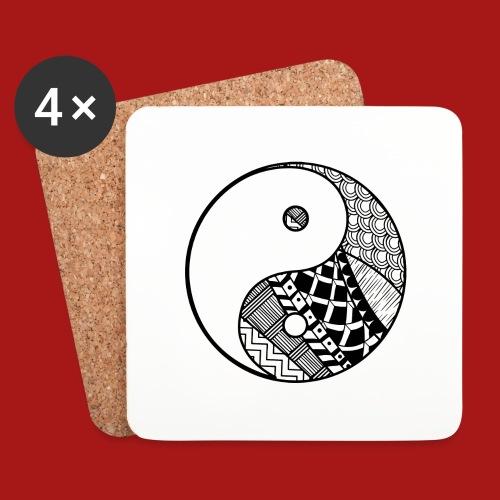 Decorative-Yin-Yang - Glasbrikker (sæt med 4 stk.)