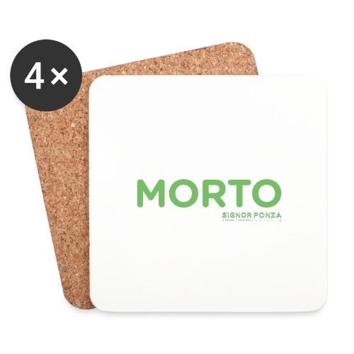 MORTO - Sottobicchieri (set da 4 pezzi)