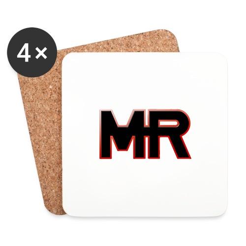 MR logo - Glasbrikker (sæt med 4 stk.)