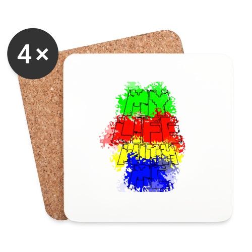 Den Officielle My Life With Minecraft Logo - Glasbrikker (sæt med 4 stk.)