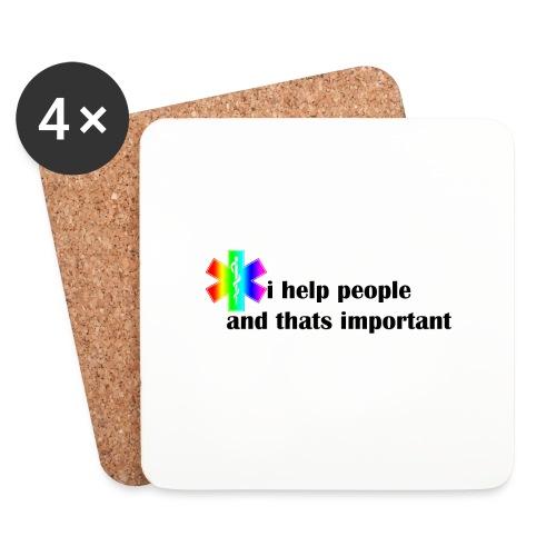 i help people - Onderzetters (4 stuks)