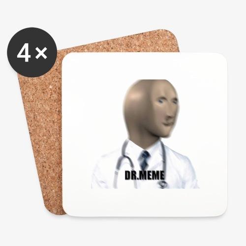 dr meme logo - Coasters (set of 4)