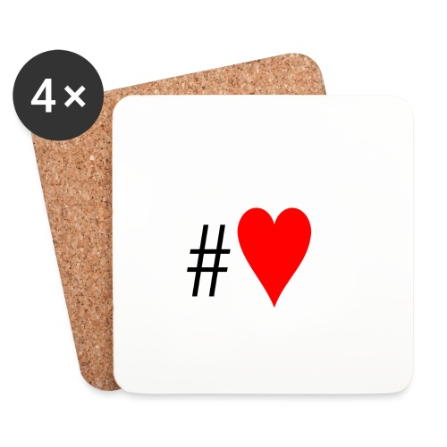 Hashtag Heart - Coasters (set of 4)