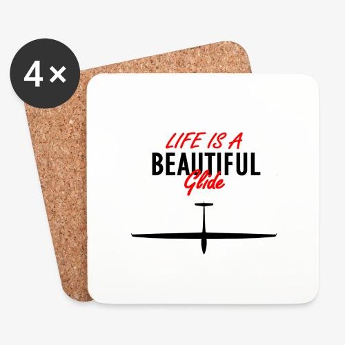 Life is a beautiful glide - Dessous de verre (lot de 4)