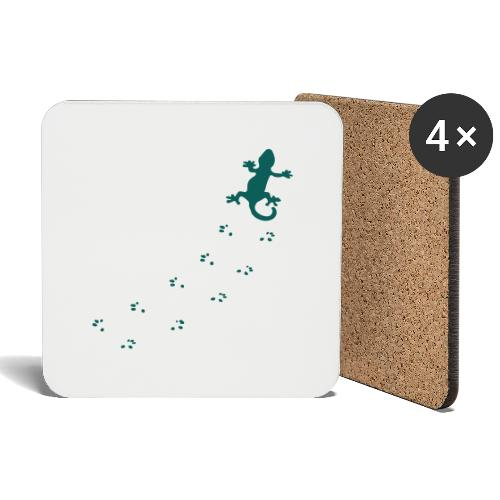 Messy Lizard Paws - Coasters (set of 4)