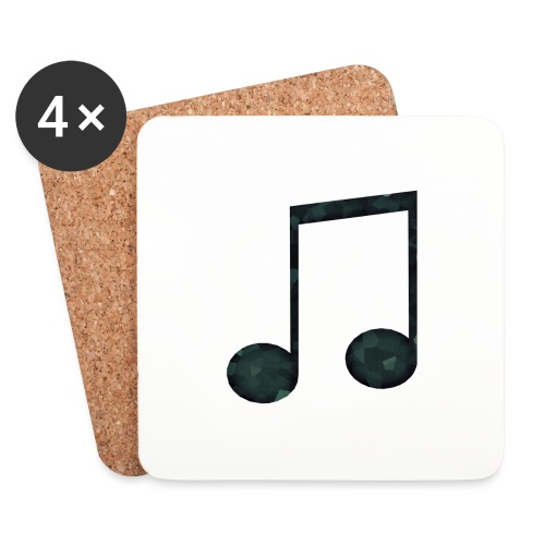 Low Poly Geometric Music Note - Coasters (set of 4)
