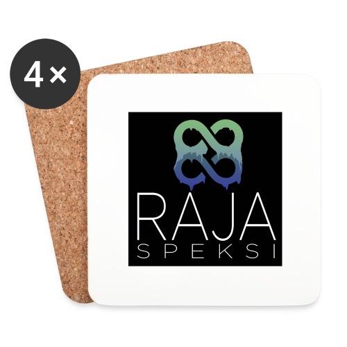 RajaSpeksin logo - Lasinalustat (4 kpl:n setti)