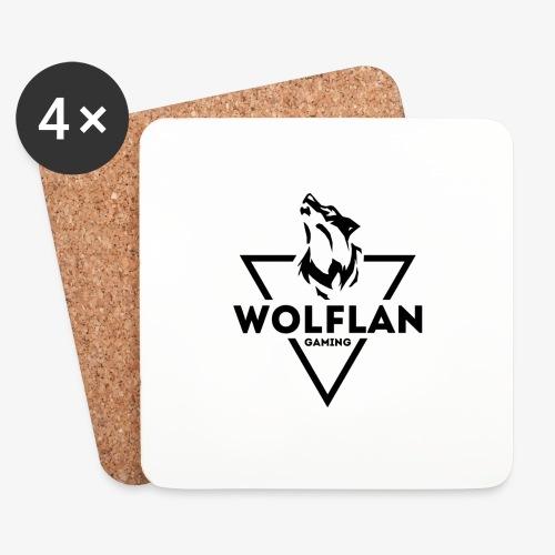 WolfLAN Gaming Logo Black - Coasters (set of 4)