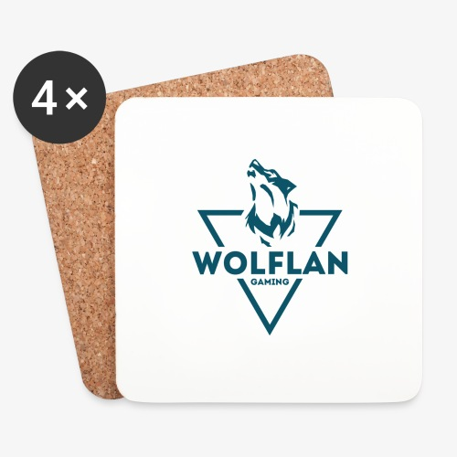 WolfLAN Logo Gray/Blue - Coasters (set of 4)