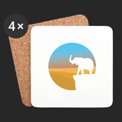 Sunset Elephant - Coasters (set of 4)