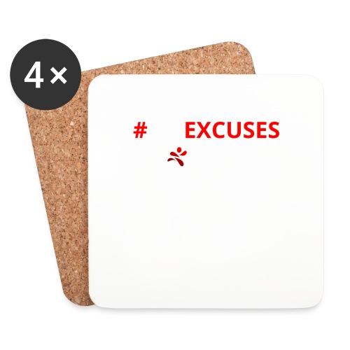 #NoExcuses - Untersetzer (4er-Set)