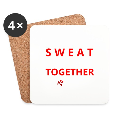 Friends that SWEAT together stay TOGETHER - Untersetzer (4er-Set)