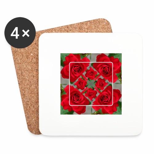Rose Design - Untersetzer (4er-Set)
