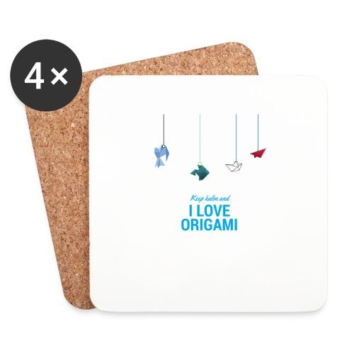keep kalm and love origami versione estate - Sottobicchieri (set da 4 pezzi)
