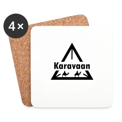Karavaan Black (High Res) - Onderzetters (4 stuks)