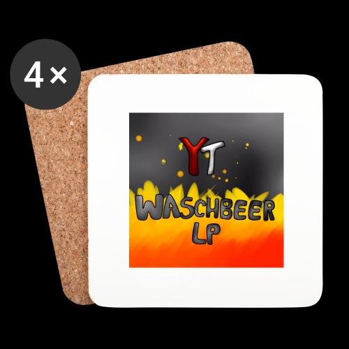 Waschbeer Design 2# Mit Flammen - Untersetzer (4er-Set)