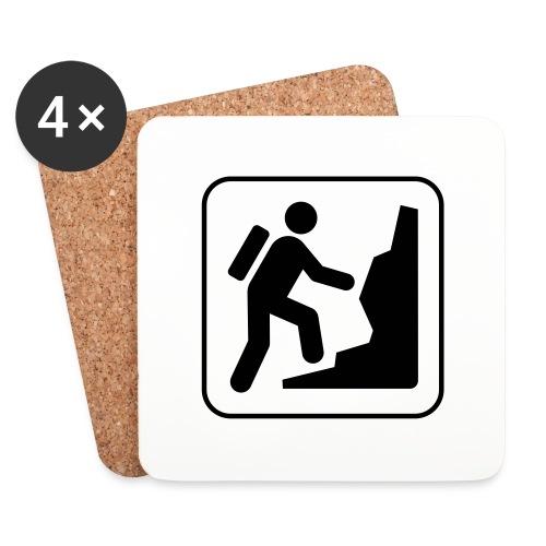 Bergwandern_logo - Untersetzer (4er-Set)