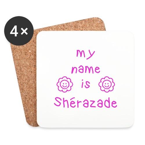 SHERAZADE MY NAME IS - Dessous de verre (lot de 4)
