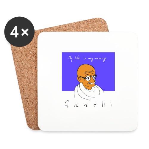 Gandhi - Untersetzer (4er-Set)