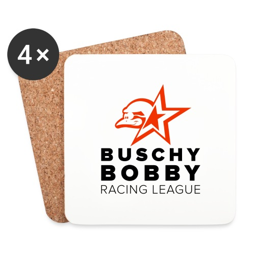 Buschy Bobby Racing League on white - Coasters (set of 4)