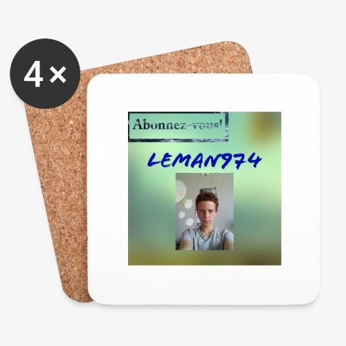 Leman974 logo - Dessous de verre (lot de 4)