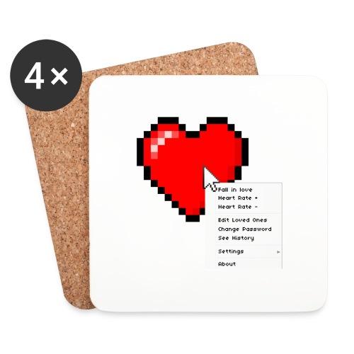 Options of the heart on a mug - Glasbrikker (sæt med 4 stk.)