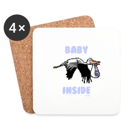 Babyinside - Boy - Untersetzer (4er-Set)