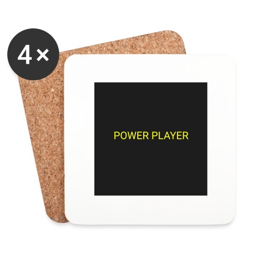 Power player - Sottobicchieri (set da 4 pezzi)