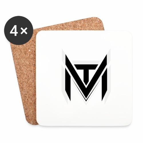 MadVexTV Logo Schwarz - Untersetzer (4er-Set)