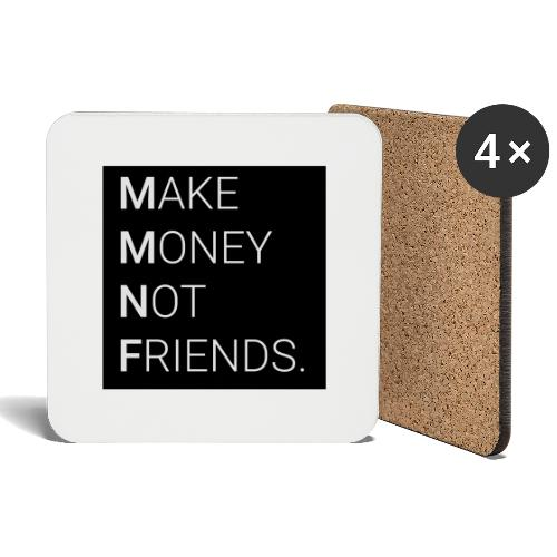 Creando Dinero sin amigos - Posavasos (juego de 4)