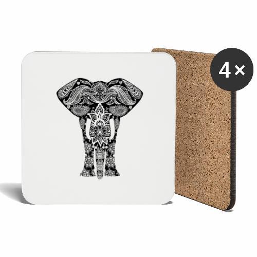 Ażurowy słoń - Podstawki (4 sztuki w zestawie)